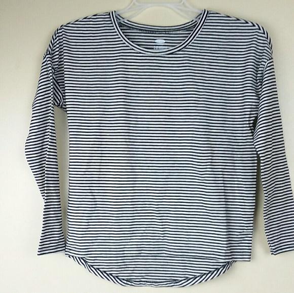 13b4b7e8 Old Navy Shirts & Tops | New Girls Black And White Striped Shirt ...